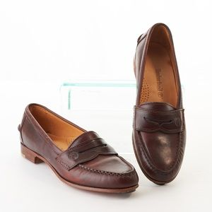 Timberland Leather Slip On Penny Loafers Brown 8M